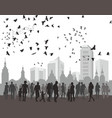 people city and natur vector image