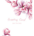 pink lily bouquet watercolor blue leaves vector image vector image