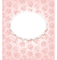 Pink retro background with cupcakes and doily vector image vector image