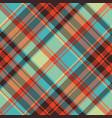 pop art color check plaid pixel seamless fabric vector image