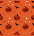 pumpkin seamless pattern halloween background vector image