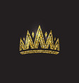 queen crown royal gold headdress king golden vector image vector image