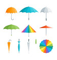 realistic detailed 3d color umbrella set vector image