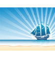 Sail ship background5 vector image vector image