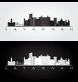 savannah usa skyline and landmarks silhouette vector image vector image