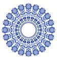 scandinavian folk art mandala with flowers vector image vector image