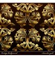 seamless background medieval ornament gold vector image vector image
