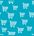seamless pattern shopping cart vector image vector image