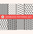seamless patterns set with endless geometric vector image