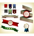 Set of retro ribbon vector image vector image