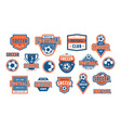 set of template emblem for soccer team vector image vector image