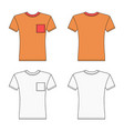 short sleeve t-shirt outlined template vector image vector image