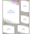Square mosaic page corner design template set vector image vector image