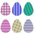 striped eggs vector image