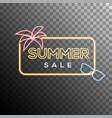 Summer sale neon effect