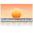 sunlight over roof vector image vector image