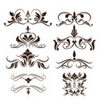 swirls element decorative vintage collection vector image vector image