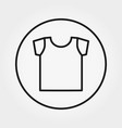 t-shirt icon editable thin line vector image