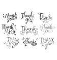 Thank You Message Set vector image vector image