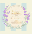 the lavender elegant wreath vector image vector image