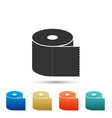 toilet paper roll icon on white background vector image