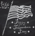 Usa waving flag American symbol forth of july Hand vector image vector image