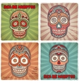 Vintage ethnic hand drawn human skull banners vector image
