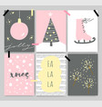 winter cute artistic cards posters letterings vector image vector image