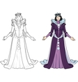 Winter Queen beautiful female character vector image