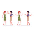 women friendly greeting vector image vector image