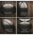 wooden background with metal element vector image