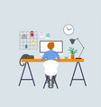 working at home freelancers home office vector image