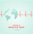 world health day concept banner with planet earth vector image