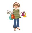 woman at shopping vector image