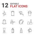 12 paint icons vector image vector image