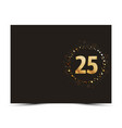 25 years anniversary card vector image vector image
