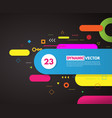 abstract background with rounded corner shapes vector image