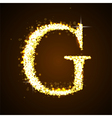 Alphabets G of gold glittering stars vector image vector image