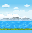 background scene with blue lake vector image vector image