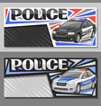 banners for police car vector image