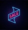 black friday light signboard neon sale sign vector image vector image