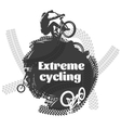 BMX Extreme Cycling Design vector image
