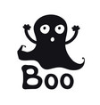 boo ghost time halloween theme handdrawn vector image vector image
