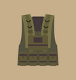 bulletproof vest military equipment vector image