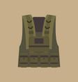 bulletproof vest military equipment vector image vector image