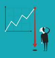 business activity decline concept in flat cartoon
