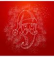 Christmas Santa Claus shape composition file vector image vector image