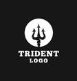 circular trident logo design vector image vector image