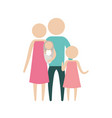color silhouette pictogram parents with a baby and vector image vector image