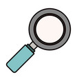 color sketch silhouette side view magnifying glass vector image